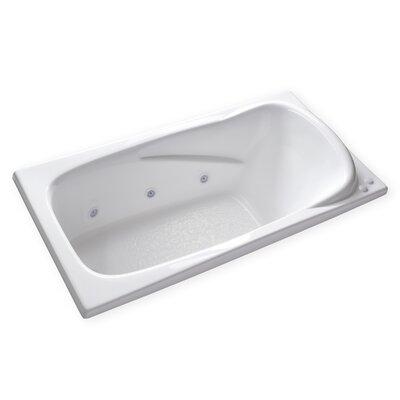Hygienic Aqua Massage 72 x 36 Whirlpool Bathtub Drain Location: Left