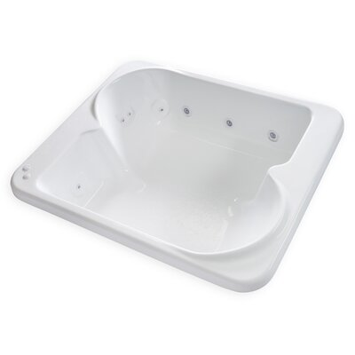 Hygienic Aqua Massage 72 x 60 Whirlpool Bathtub