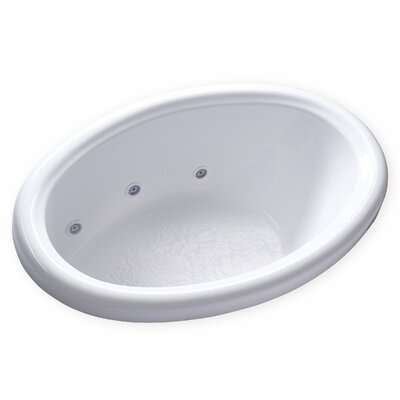 Hygienic Aqua Massage 58 x 39 Whirlpool Bathtub Drain Location: Left