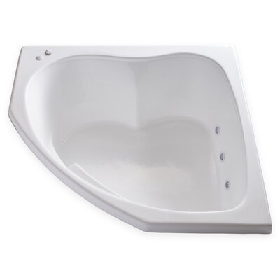 Hygienic Aqua Massage 55 x 55 Whirlpool Bathtub