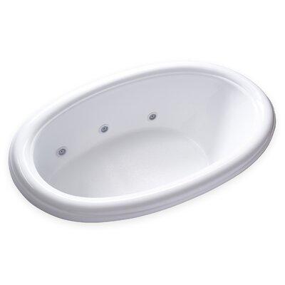Hygienic Aqua Massage 69 x 42 Whirlpool Bathtub Drain Location: Left