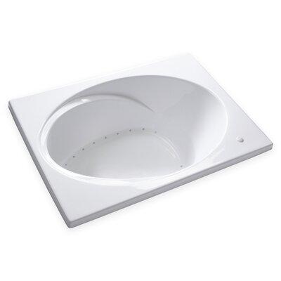 Hygienic Air Massage 60 x 42 Bathtub Drain Location: Left