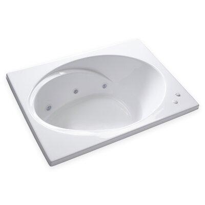 Hygienic Aqua Massage 60 x 42 Whirlpool Bathtub Drain Location: Left