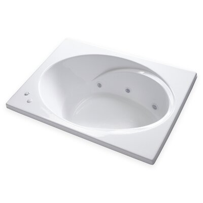 Hygienic Aqua Massage 60 x 42 Whirlpool Bathtub Drain Location: Right