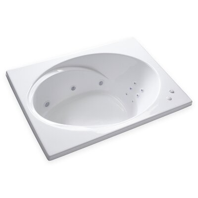 Hygienic Aqua Massage 60 x 42 Whirlpool Bathtub Drain Location: Left