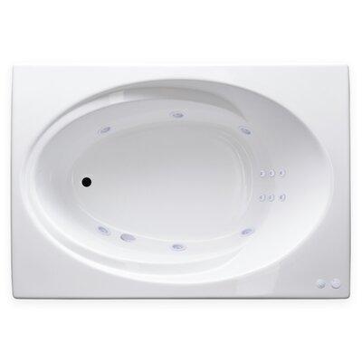 Hygienic Aqua Massage 60 x 42 Whirlpool Bathtub Drain Location: Right