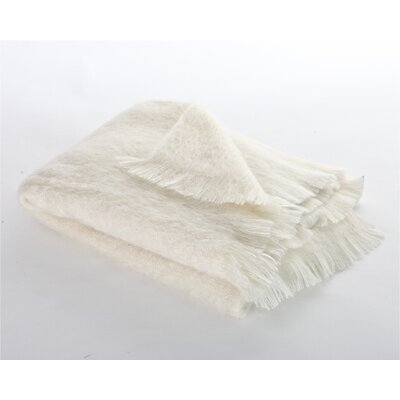 Mohair Mess Throw Color: Natural