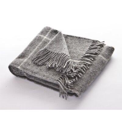 Chimney Sweep Windowpane Sheep Wool Throw