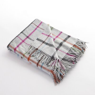 Stripey Windowpane Lambswool Throw