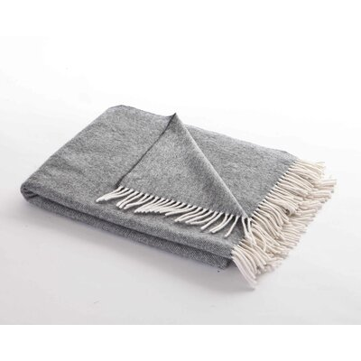 Chimney Sweep Cloud Herringbone Lambswool Throw