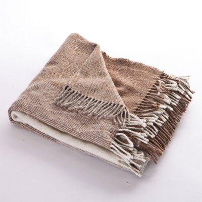 Sandy Cove Nine Block Sheep Wool Throw