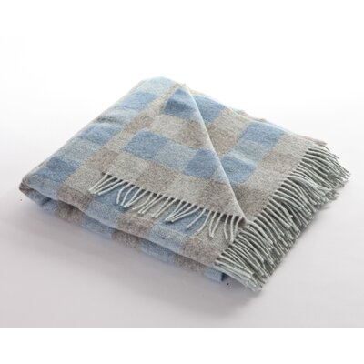 Wave Blockwork Sheep Wool Throw