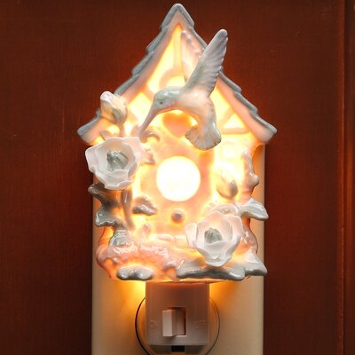 Hummingbird on Birdhouse Night Light
