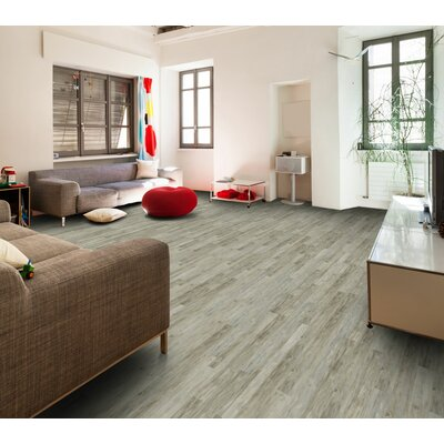 Berkley Lane 5 x 51 x 12mm Tile Laminate Flooring in Whitewashed Block Pine