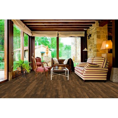 Morgan Hill 6 x 51 x 8mm Tile Laminate Flooring in Aged Cedar