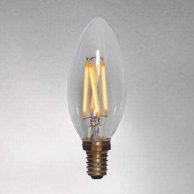 E12/Candelabra LED Vintage Filament Light Bulb Wattage: 2