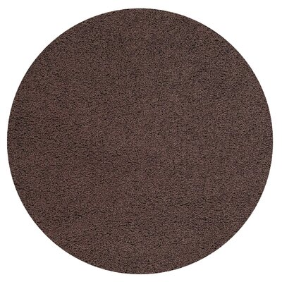 Burns Single Solid Brown Shag Area Rug Rug Size: Round 5