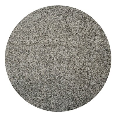 Bella Maxy Home Single Solid Grey Shag Area Rug Rug Size: Round 5