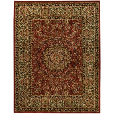 Pasha Maxy Home Medallion Traditional Red/Ivory Area Rug Rug Size: 710 x 106