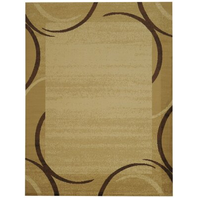 Hinson Contemporary Arches French Border Ivory/Beige Area Rug Rug Size: 33 x 5