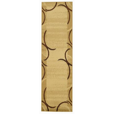 Hinson Contemporary Arches French Border Ivory/Beige Area Rug Rug Size: Runner 27 x 10