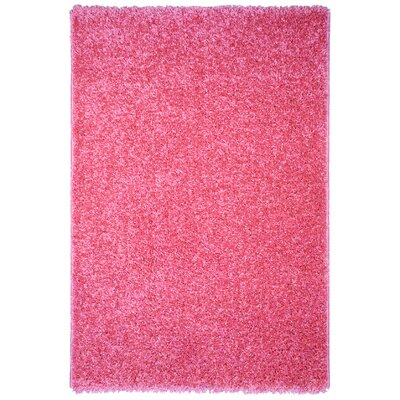 Burns Single Solid Pink Shag Area Rug Rug Size: Rectangle 5 x 7