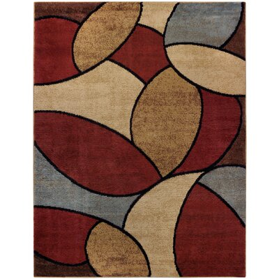 Pasha Maxy Home Oval Tiles Contemporary Area Rug Rug Size: 33 x 5