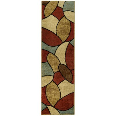 Pasha Maxy Home Oval Tiles Contemporary Area Rug Rug Size: Runner 2'7