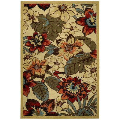 Beauchamp Square Floral Doormat Rug Size: 16 x 27