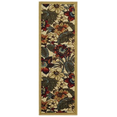 Beauchamp Square Red/Green Area Rug Rug Size: Runner 28 x 91