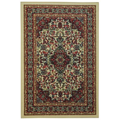 Ashmore Traditional Floral Ivory Area Rug Rug Size: 33 x 5