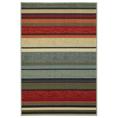 Beauchamp Square Green/Red Area Rug Rug Size: 5 x 66