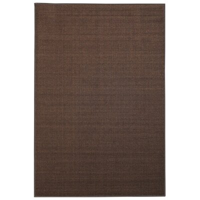 Karlee Solid Plain Brown Area Rug Rug Size: 5 x 66
