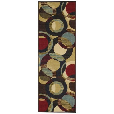 Beauchamp Square Maxy Home Contemporary Circles Area Rug Rug Size: Runner 28 x 910