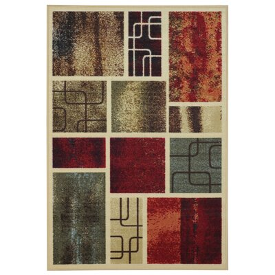 Beauchamp Square Red/Green Area Rug Rug Size: 33 x 5