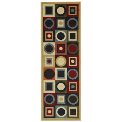 Hammam Maxy Home Contemporary Geometric Area Rug Rug Size: Runner 110 x 69