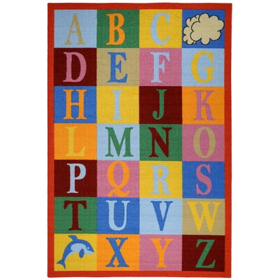 Jessee Kids Educational Alphabet Boxes Area Rug Rug Size: 33 x 5