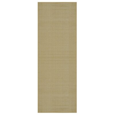 Harland Maxy Home Solid Single Plain Ivory Area Rug Rug Size: Runner 110 x 69