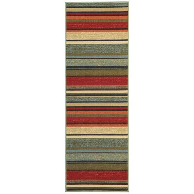 Beauchamp Square Green/Red Area Rug Rug Size: Runner 28 x 91