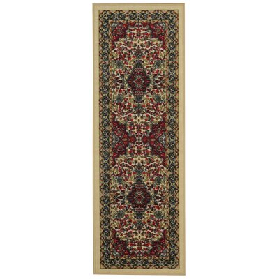 Ashmore Traditional Floral Ivory Area Rug Rug Size: Runner 28 x 91