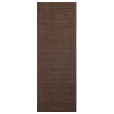 Karlee Solid Plain Brown Area Rug Rug Size: Runner 28 x 91