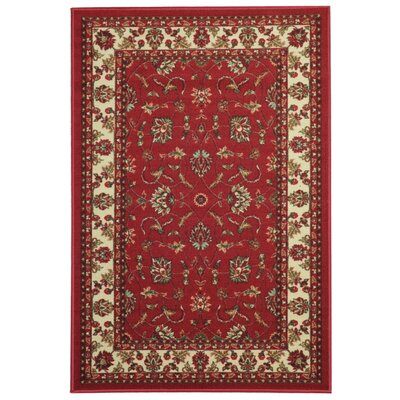 Harland Maxy Home Traditional Floral Red Area Rug Rug Size: 5 x 66