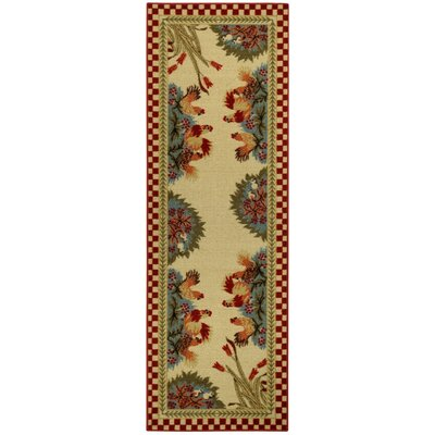 Beauchesne Rooster Checke Kitchen Mat Rug Size: Runner 18 x 411