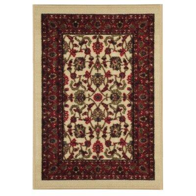 Hammam Floral Doormat Rug Size: 16 x 27