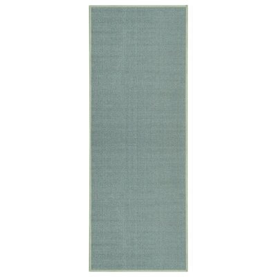 Jupiter Inlet Colony Maxy Home Solid Single Color Plain Ocean Blue Area Rug Rug Size: Runner 28 x 910