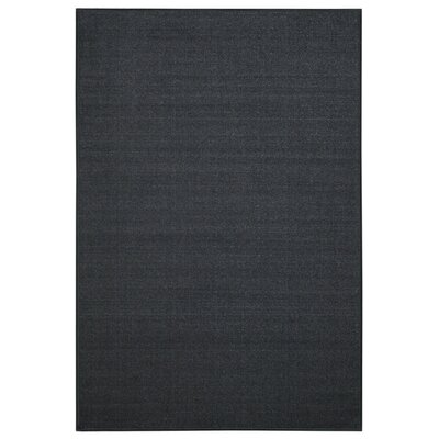 Hammam Maxy Home Solid Coal Single Plain Black Area Rug Rug Size: 33 x 5