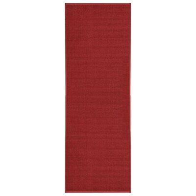 Burrillville Solid Single Plain Red Area Rug Rug Size: Runner 11 x 69