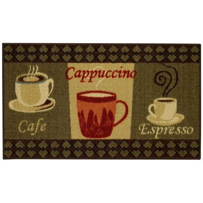 Beauchesne Cafe Cappuccino Espresso Kitchen Area Rug