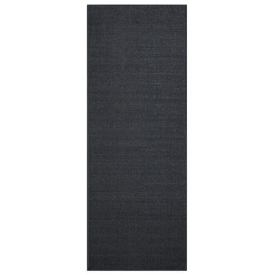Karlee Solid Plain Black Area Rug Rug Size: Runner 28 x 91