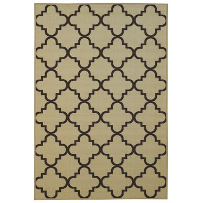 Garin Moroccan Trellis Ivory Area Rug Rug Size: 33 x 5